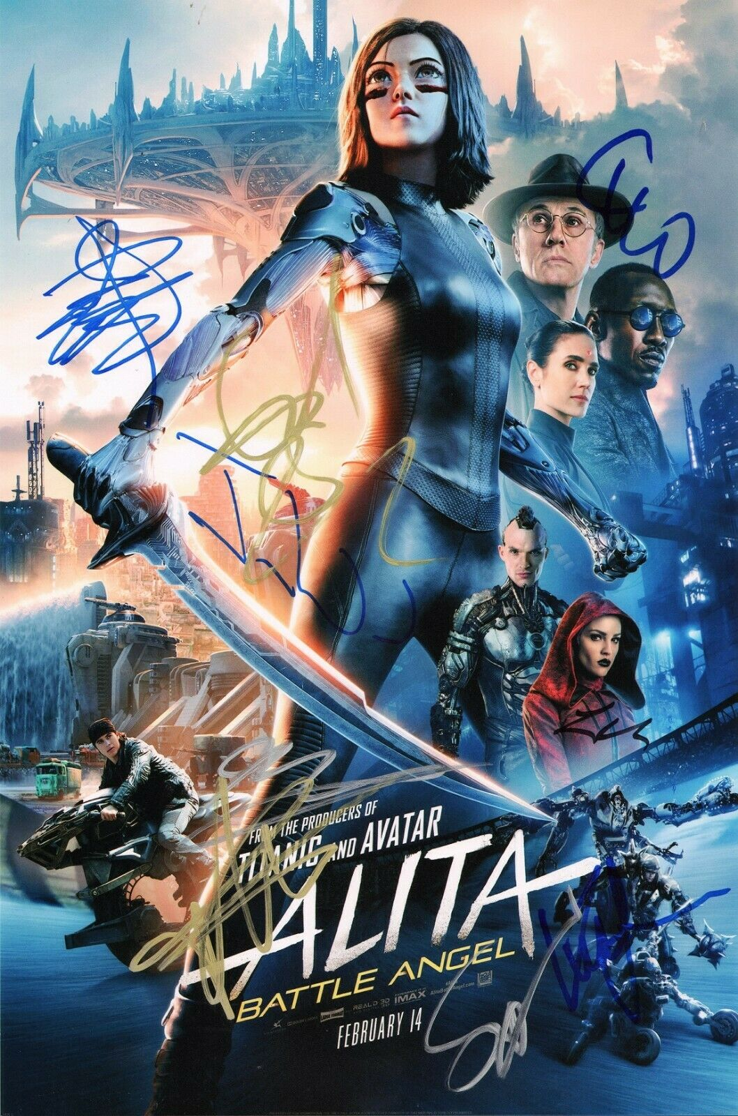 Alita Battle Angel Hand Signed Poster