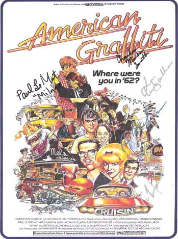 American Graffiti Autographed Poster