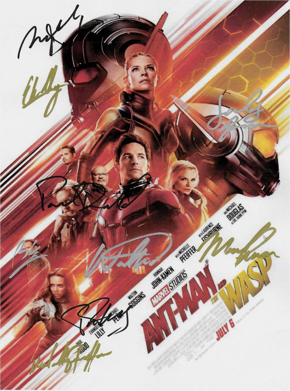 Ant-Man and the Wasp Hand Signed Poster