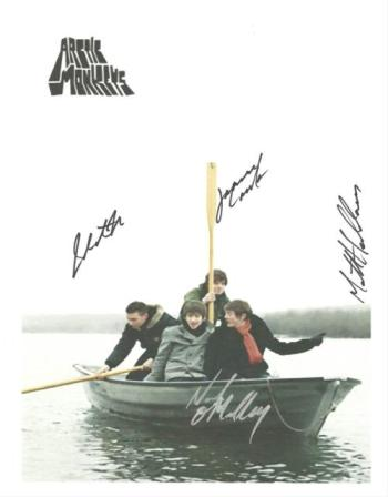Arctic Monkey Autographed Poster