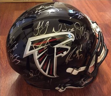 Atlanta Falcons Hand Signed Team Helmet