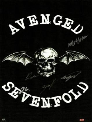 Avenged Sevenfold Hand Signed Poster