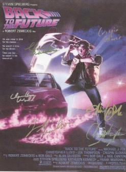 Back to the Future Hand Signed Movie Poster