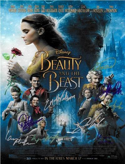 Beauty and the Beast Autographed Movie Poster