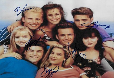Luke Perry Beverly Hills 90210 Hand Signed Poster