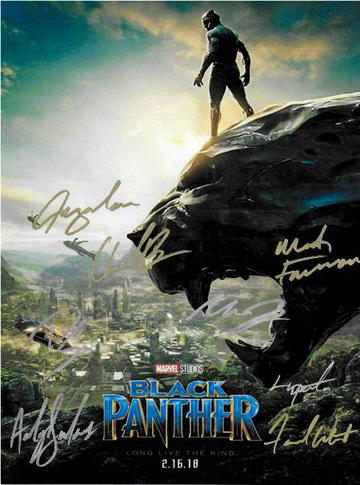 Black Panther Autographed Movie Poster