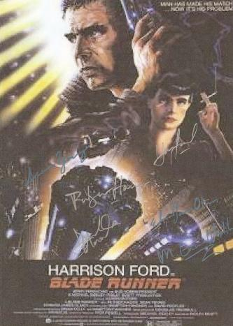 Blade Runner Autographed Movie Poster