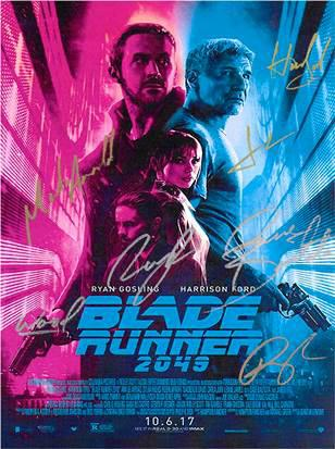 Blade Runner 2049 Hand Signed Movie Poster