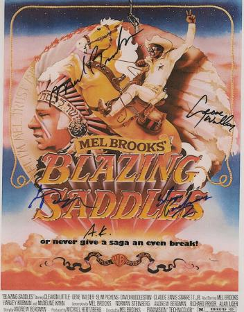 Blazing Saddles Autographed Movie Poster