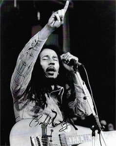 Bob Marley Hand Signed Photo