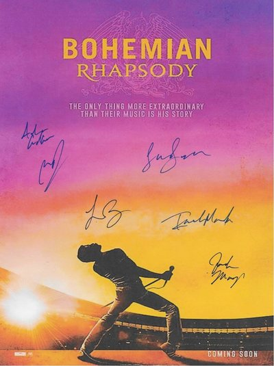 Bohemian Rhapsody Autographed Signed Movie Poster