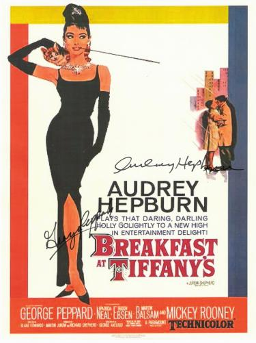 Breakfast at Tiffany's Hand Signed Movie Poster