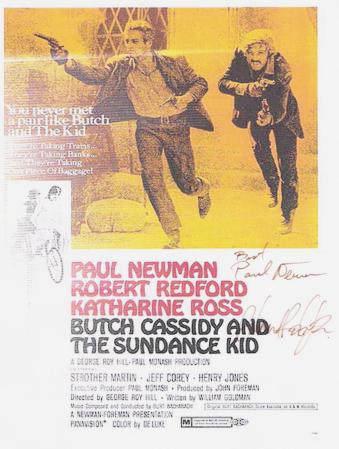 Butch Cassidy and the Sundance Kid Autographed Poster