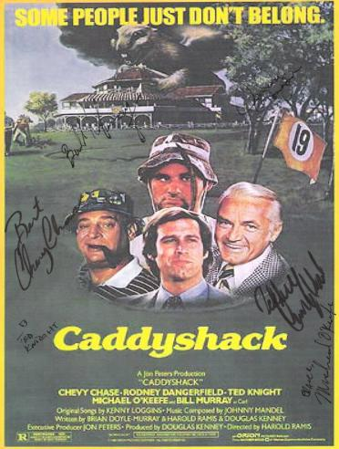Caddyshack Autographed Poster