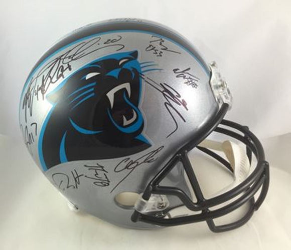 Carolina Panthers Autographed Signed Team Helmet