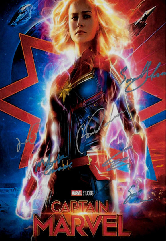 Captain Marvel Autographed Movie Poster