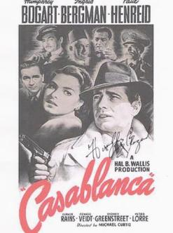 Casablanca Autographed Movie  Poster