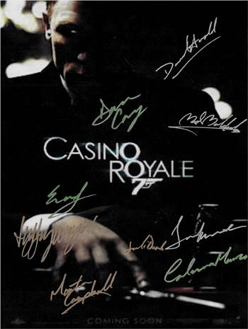 Casino Royale Autographed Poster