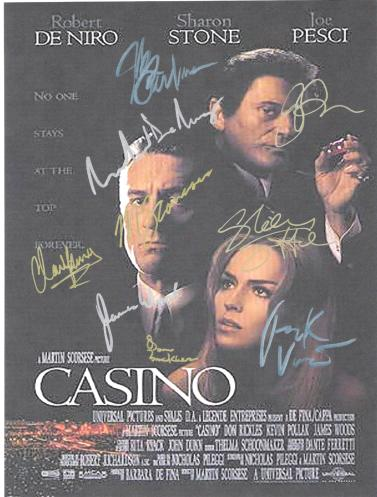 Casino Autographed Movie Poster
