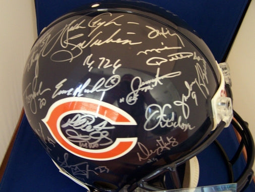 Chicago Bears Hand Signed Team Helmet
