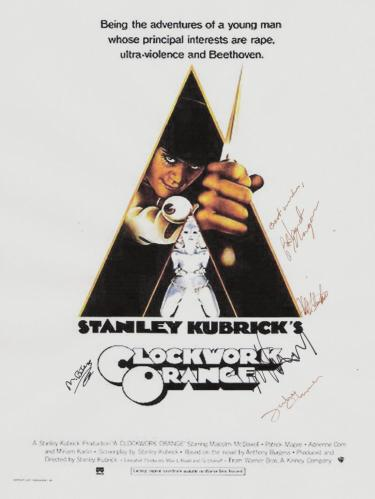 A Clockwork Orange Hand Signed Poster