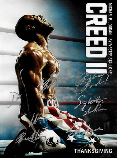 Creed 2 Signed Autographed  Movie Poster