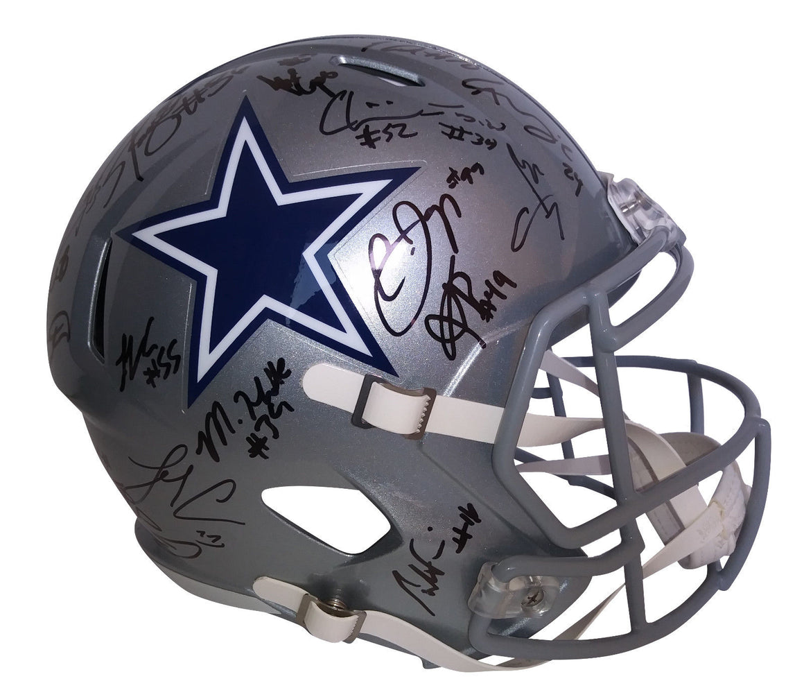 Dallas Cowboys Hand Signed Team Helmet