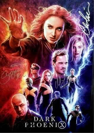 Dark Phoenix Hand Signed Movie Poster