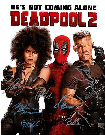 Deadpool 2 Hand Signed Movie Poster