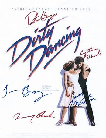 Dirty Dancing Autographed Poster
