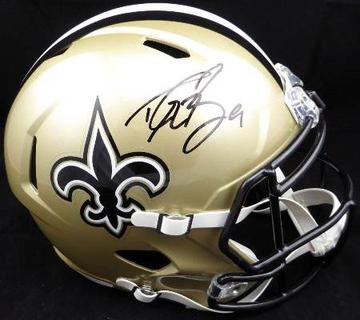 Drew Brees Hand Signed Helmet