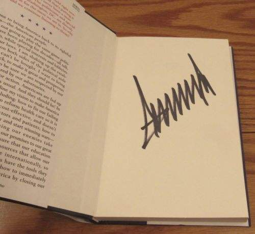 Donald Trump Autographed Book
