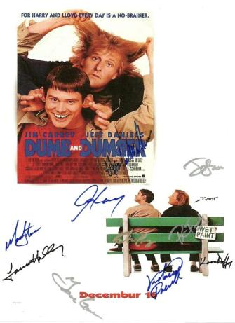 Dumb and Dumber Autographed Movie Poster