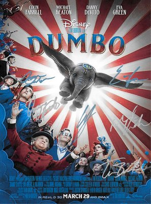 Dumbo Hand Signed Movie Poster
