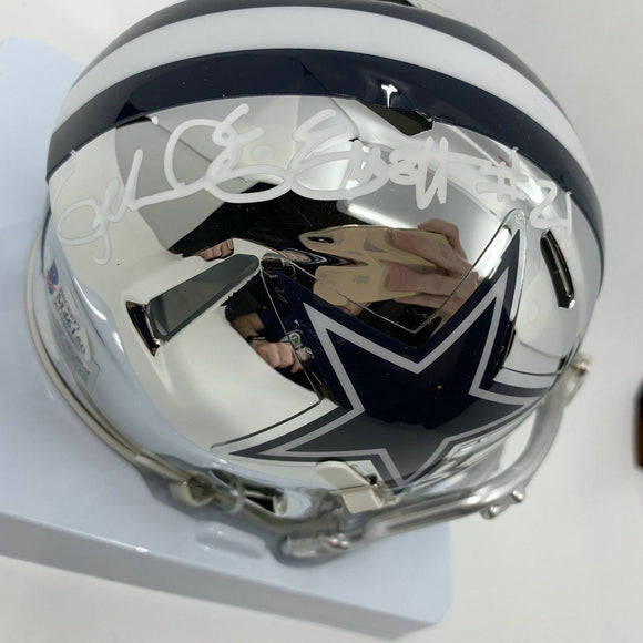 Ezekiel Elliott Dallas Cowboys Hand Signed Chrome Helmet