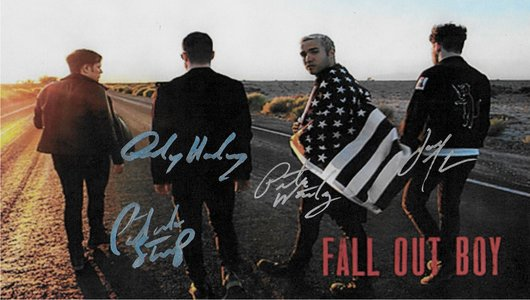 Fall Out Boy Autographed Poster