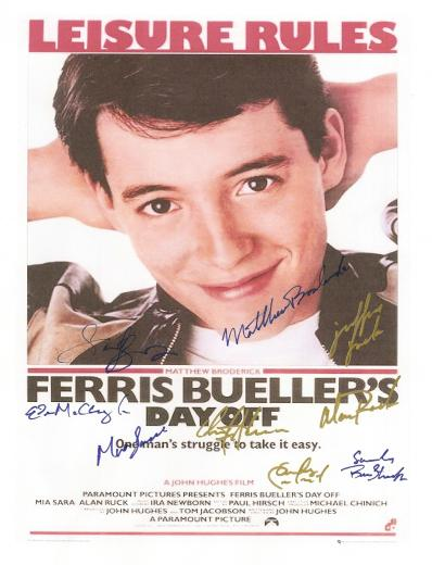 Ferris Buller's Day Off Autographed Movie Poster