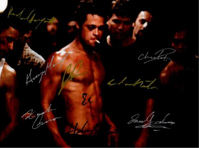 Fight Club Brad Pitt Autographed Signed Poster
