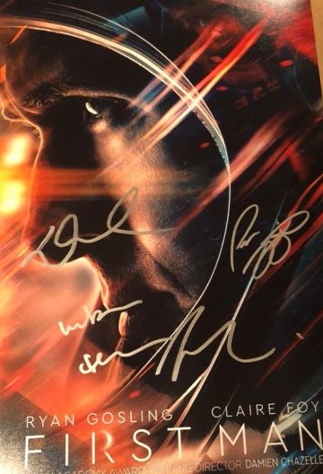 First Man Autographed Movie Poster