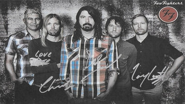Foo Fighters Hand Signed Poster