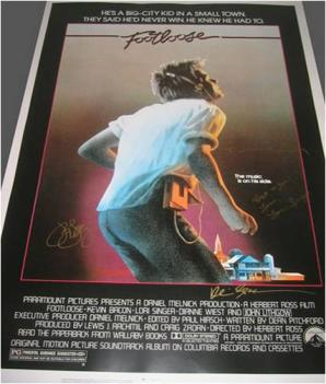 Footloose Hand Signed Movie Poster