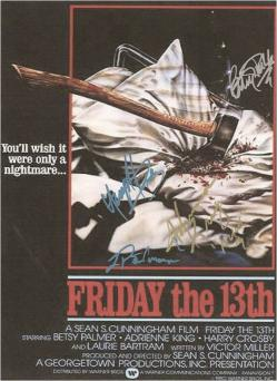 Friday the 13th Autographed Movie Poster