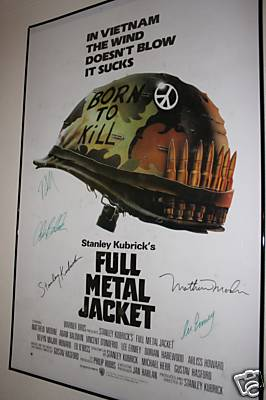 Full Metal Jacket Autographed Movie Poster
