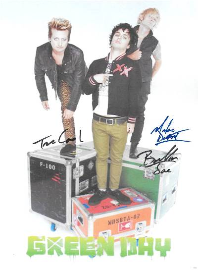 Green Day Autograph Signed Poster