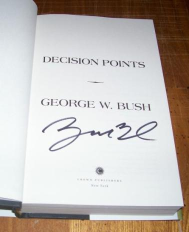 George W Bush Autographed 1st Ed. Book