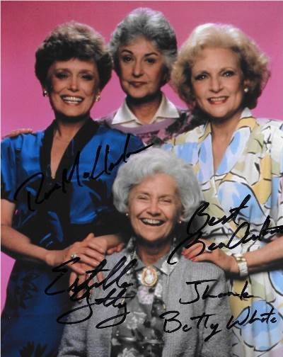 Golden Girls Autographed Signed Photo