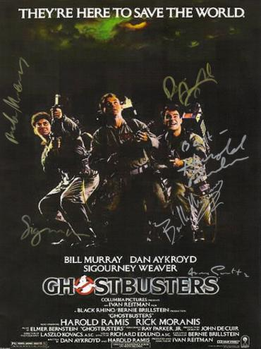 Ghostbusters  Hand Signed Poster