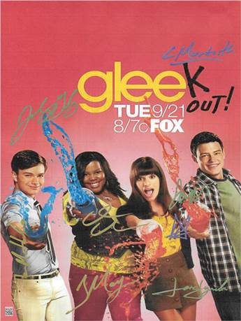 Glee Autographed Poster