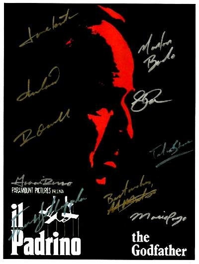 The Godfather Autographed Poster