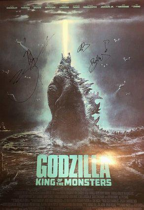 Godzilla King of the Monsters Hand Signed Poster